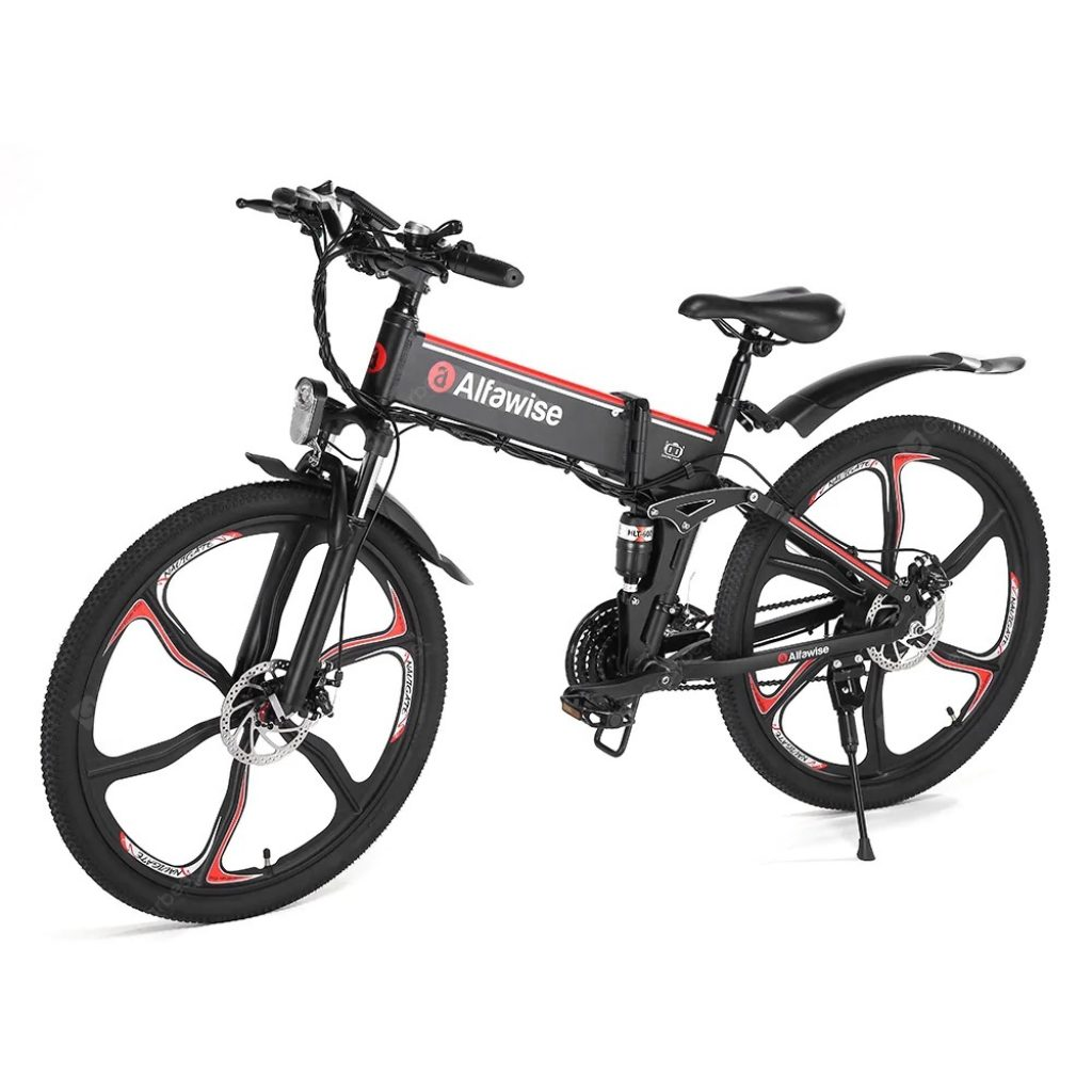 coupon, gearbest, Alfawise X2 Lightweight Electric Bicycle Smart Folding Bike