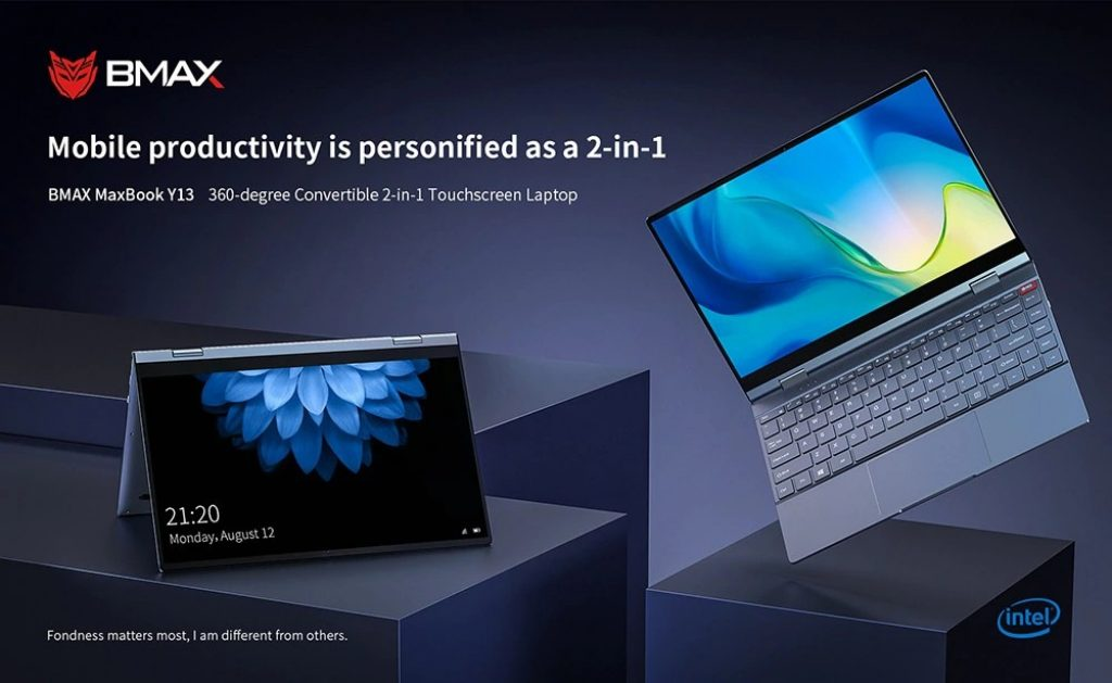 banggood, kupon, gearbest, BMAX Y13 13.3 inčni notebook 360 Degrees Laptop