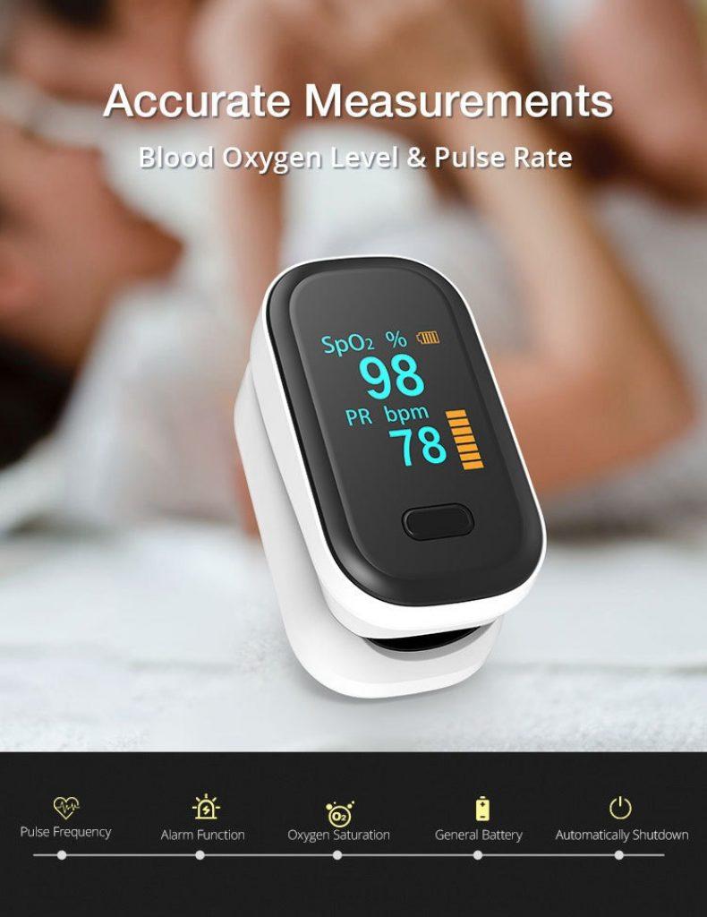 kupong, banggood, BOXYM oFit-2 Finger-Clamp Pulse Oximeter Medical Finger Blood Oxygen Saturometro Heart De Oximeter Portable Pulse Oximetro Monitor