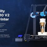 tomtop, banggood, kupong, gearbest, Creality CR - 10 V2 Upgrade To-veis Sphenoid Cooling 3D Printer