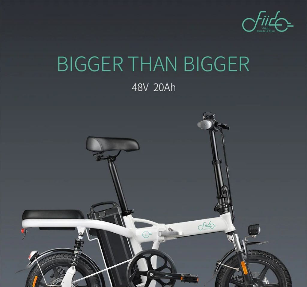 coupon, gearbest, FIIDO L2 14 inch Electric Bicycle Smart 20Ah Folding Moped E-bike