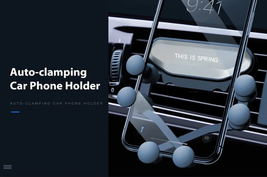kupon, gearbest, Gocomma Auto-clamping Car Gravity Phone Holder