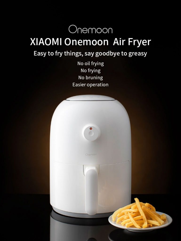coupon, banggood, Onemoon OA1 Air Fryer Small 2L 800W Air Fryer No Oil Frying Machine French Fries Tool From Xiaomi Youpin