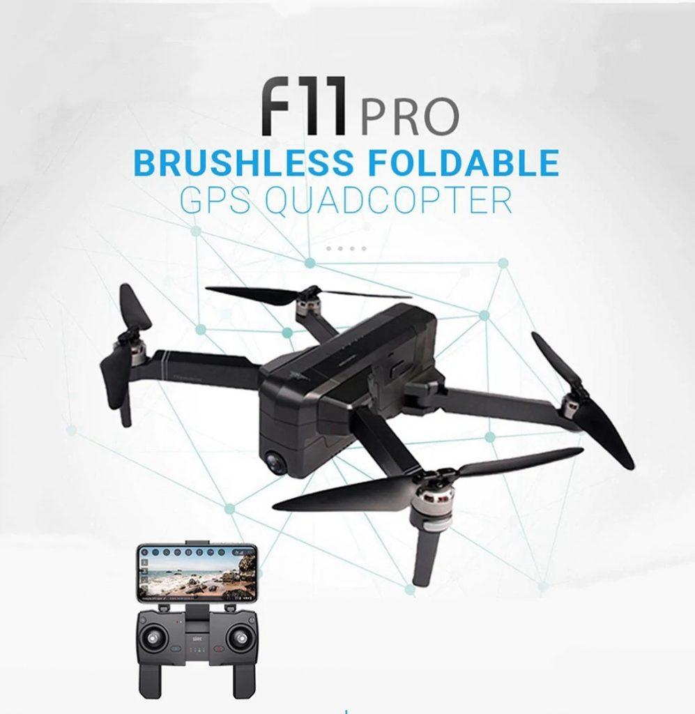phiếu giảm giá, gearbest, SJRC F11 PRO GPS 5G WiFi Có thể gập lại FPV RC Drone Không chổi than RTF