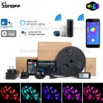coupon, banggood, SONOFF L1 Dimmable IP65 2M 5M Smart WiFi RGB LED Strip Light Kit Work With Amazon Alexa Google Home