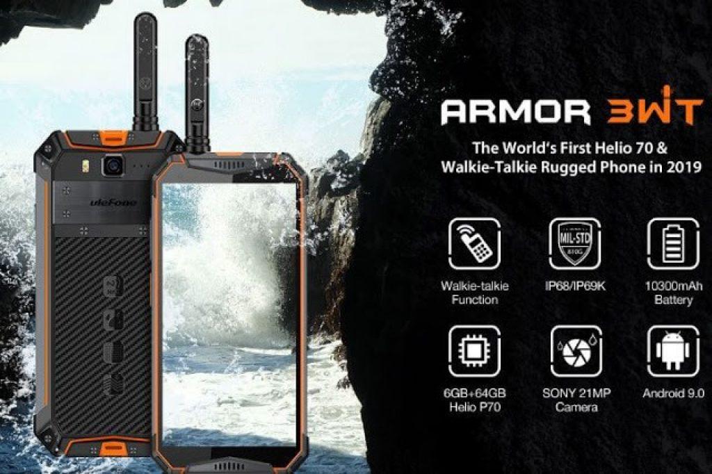 coupon, banggood, Ulefone Armor 3WT 5.7 Inch Walkie Talkie NFC IP68 IP69K Waterproof 6GB 64GB 10300mAh Helio P70 Octa core 4G Smartphone