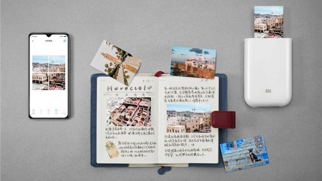 kupon, banggood, XIAOMI Pocket Photo Printer 3 Inch 300dpi AR ZINK Non-tinta Mini Larawan Printer bluetooth Connection