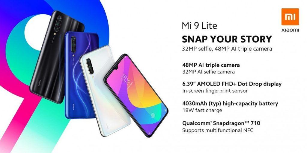 купон, чубчик, смартфон Xiaomi Mi 9 Lite