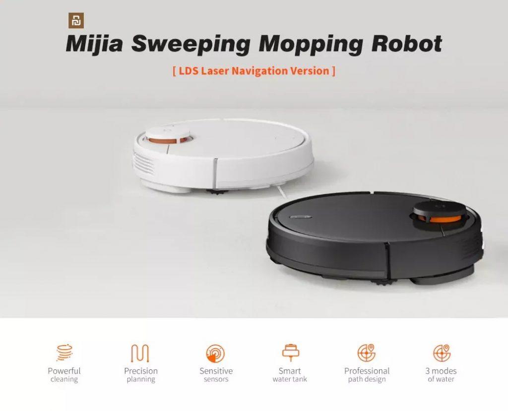 kupon, banggood, Xiaomi Mijia 2 içinde 1 Robot Süpürge Paspas Süpürge