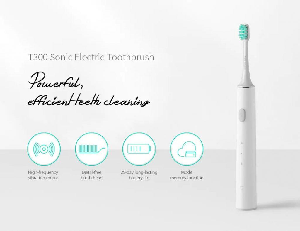 कूपन, गियरबेस्ट, Xiaomi Mijia T300 रिचार्जेबल सोनिक इलेक्ट्रिक टूथब्रश
