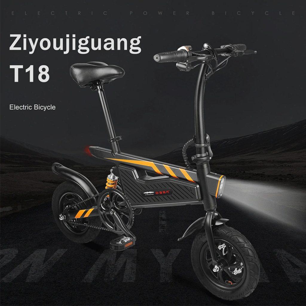 kupon, banggood, Ziyoujiguang T18S 7.8AH 36V 250W Sepeda Listrik Lipat