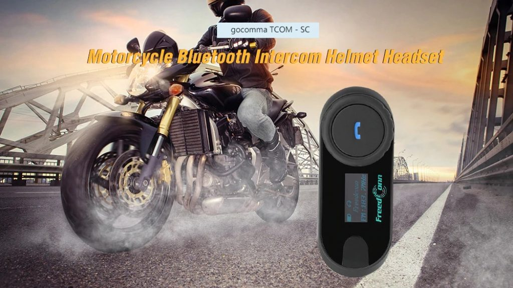 coupon, gearbest, gocomma TCOM - SC Motorcycle Intercom Helmet Headset