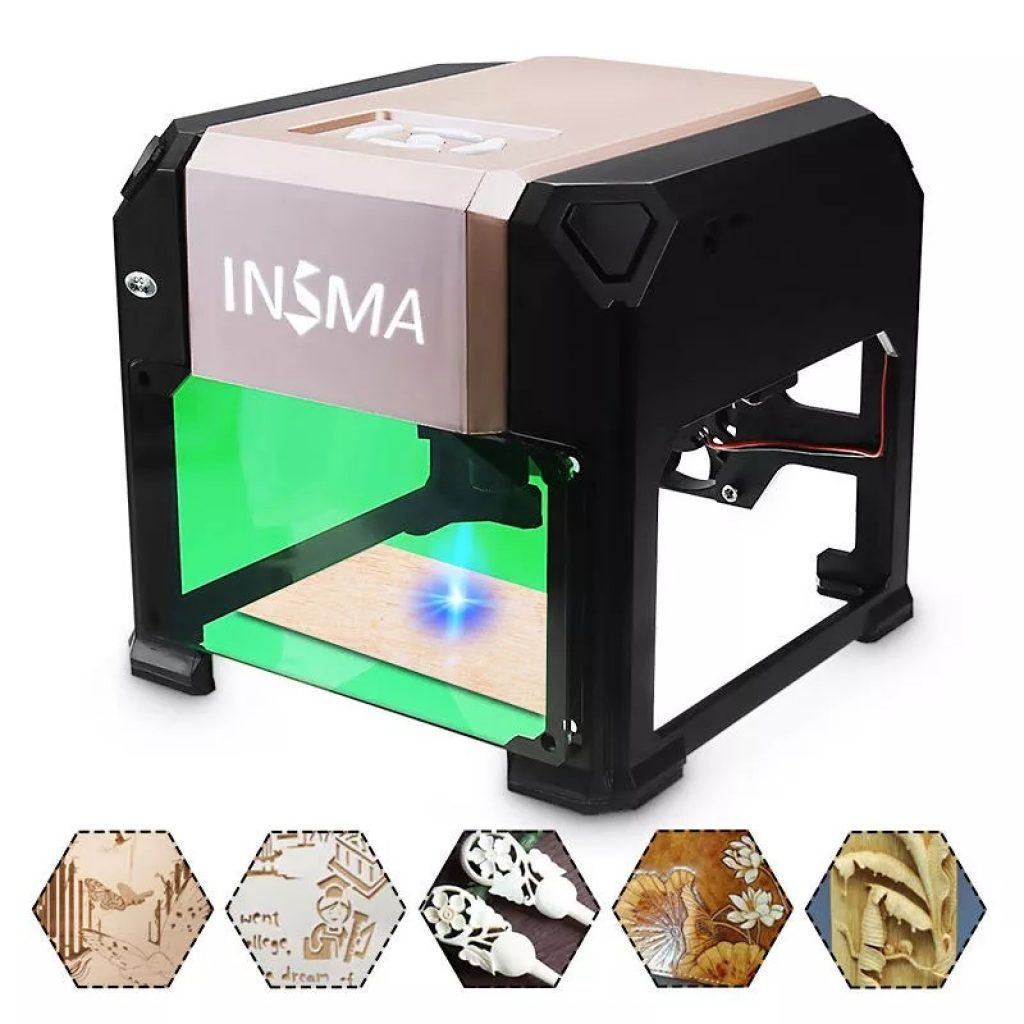 phiếu giảm giá, banggood, 3000mW Máy tính để bàn khắc laser USB DIY Logo Mark Máy in Máy khắc laser Carver
