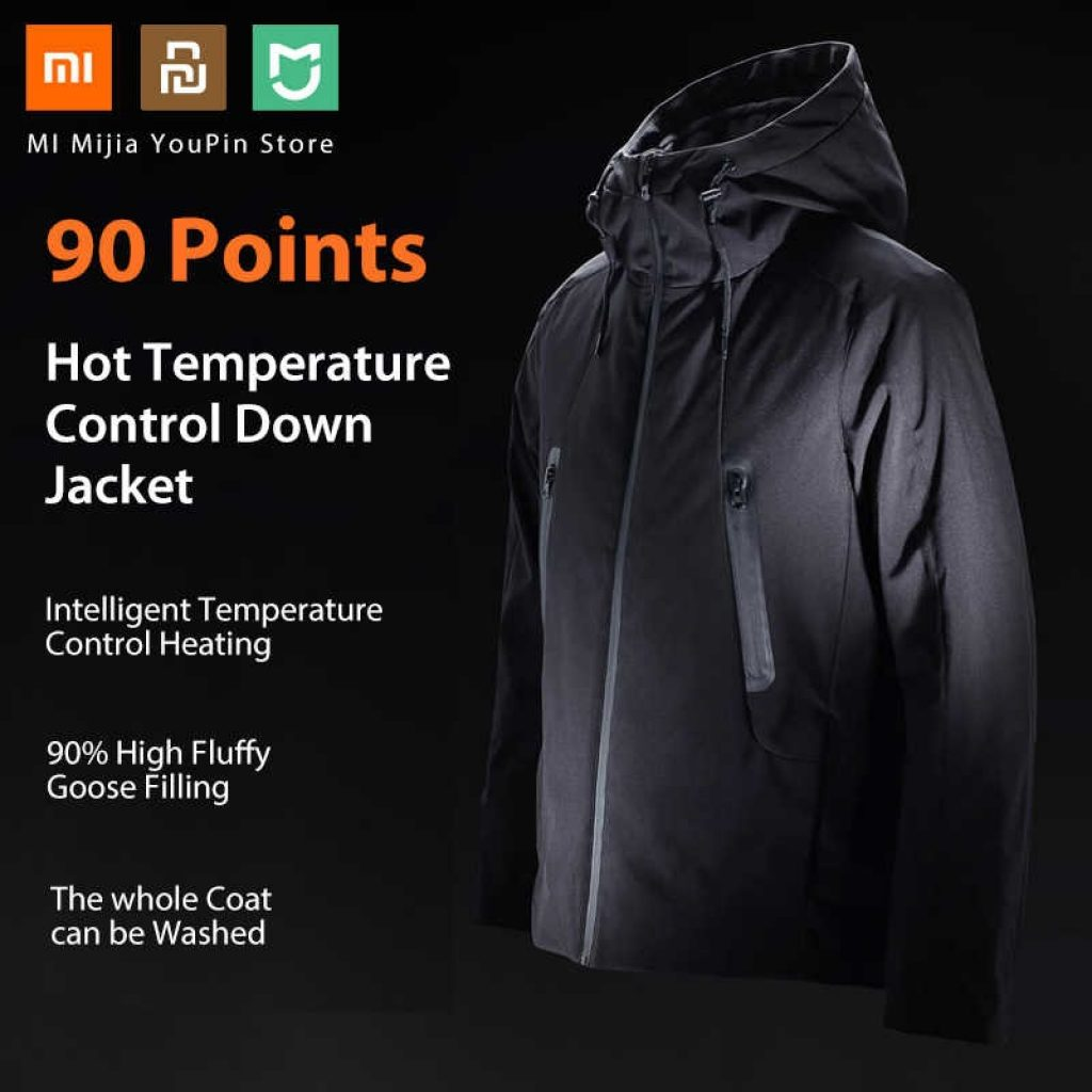 coupon, banggood, 90 FUN Intelligent Down Jacket From Xiaomi Youpin Automatic Heating Waterproof Goose Feather+