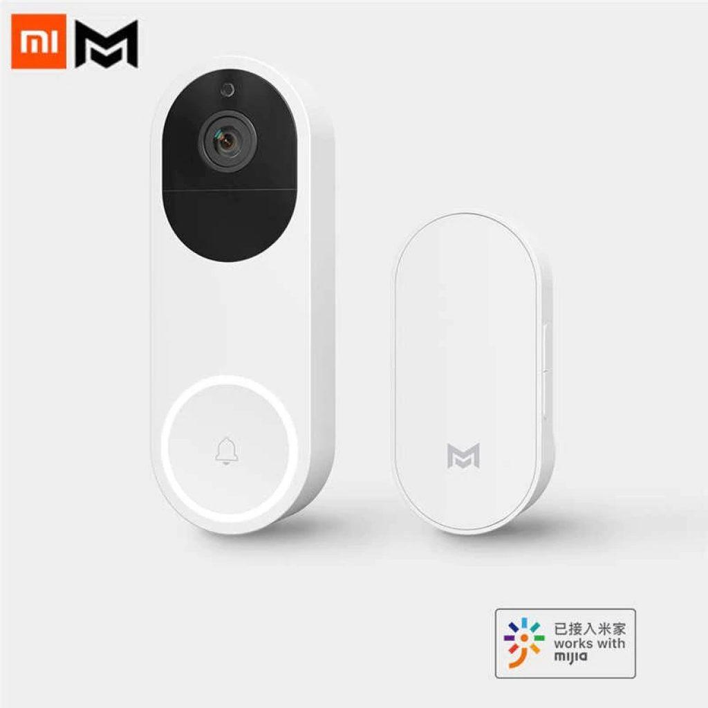 kupon, banggood, [AI Versiyonu] Xiaomo Mijia AI Yüz Tanıma 1080P IR Gece Görüş WIFI Video Kapı Zili Seti Hareket De-tection SMS Xiaomi Youpin'dan Mijia Uygulama Kontrolü ile İnterkom Sistemi