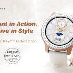 スワロフスキーのクーポン、ギアベスト、AMAZFIT GTR 42mm Smart Watch Glitter Editionジルコニア
