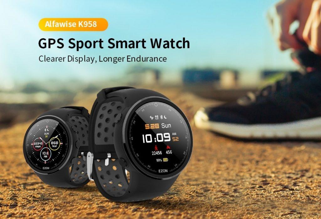 coupon, gearbest, Alfawise K958 GPS Sport Smart Watch