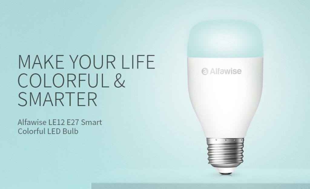 kupon, gearbest, Alfawise LE12 E27 WiFi Smart LED Bulb