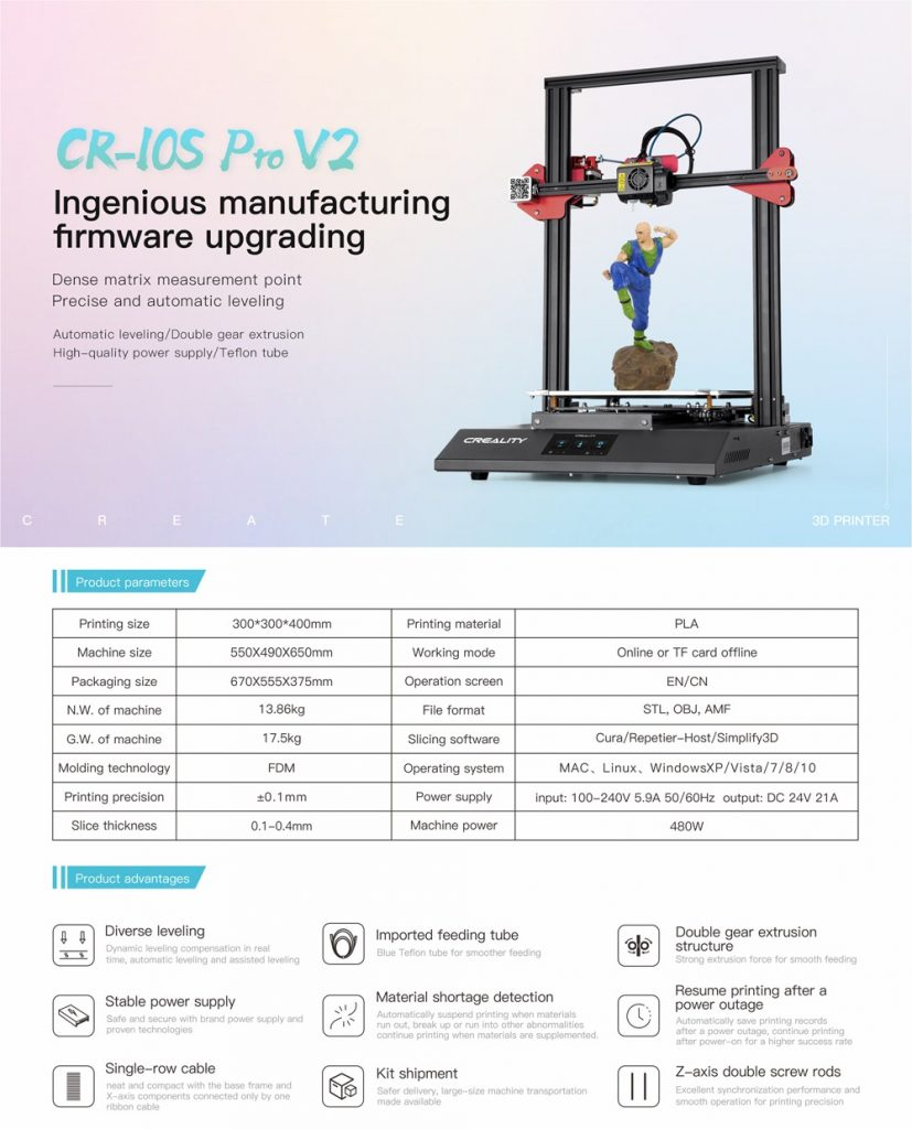 coupon, banggood, Creality 3D® CR-10S Pro V2 Firmware Upgrading DIY 3D Printer