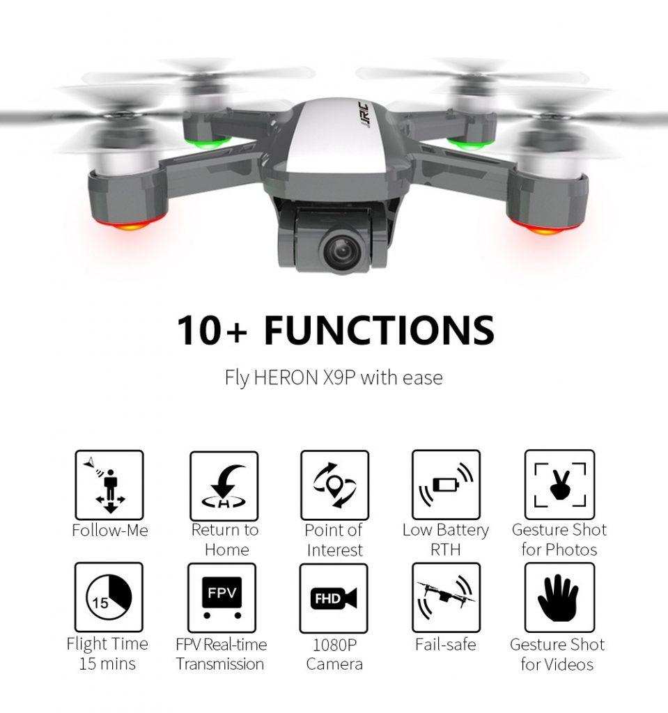 phiếu giảm giá, gearbest, JJRC X9P Dual GPS RC Drone Heron 4K 5G WiFi quad