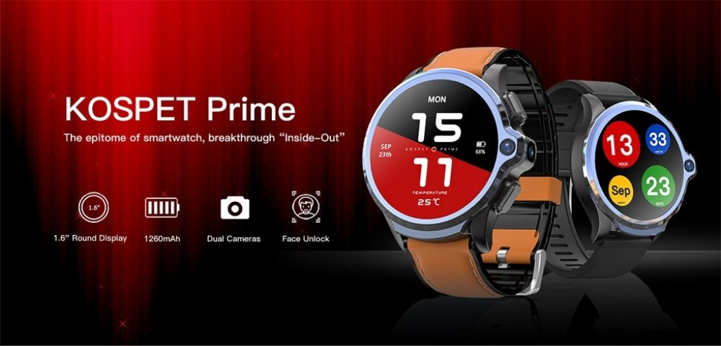 coupon, gearbest, KOSPET Prime 4G Smart Watch Phone