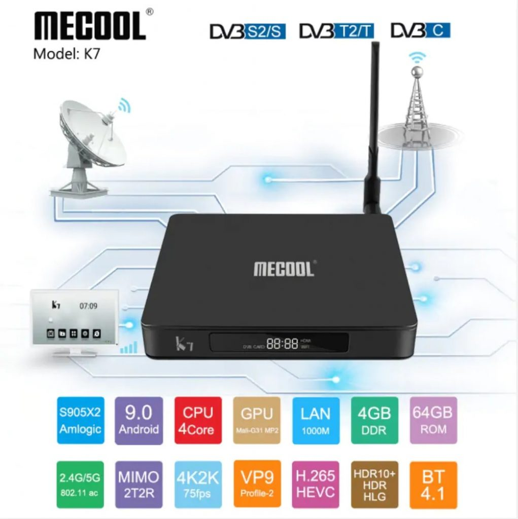 coupon, gearbest, MECOOL K7 TV Box