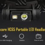 coupon, gearbest,Nitecore HC65 Portable 1000lm LED Headlamp with 18650 Battery