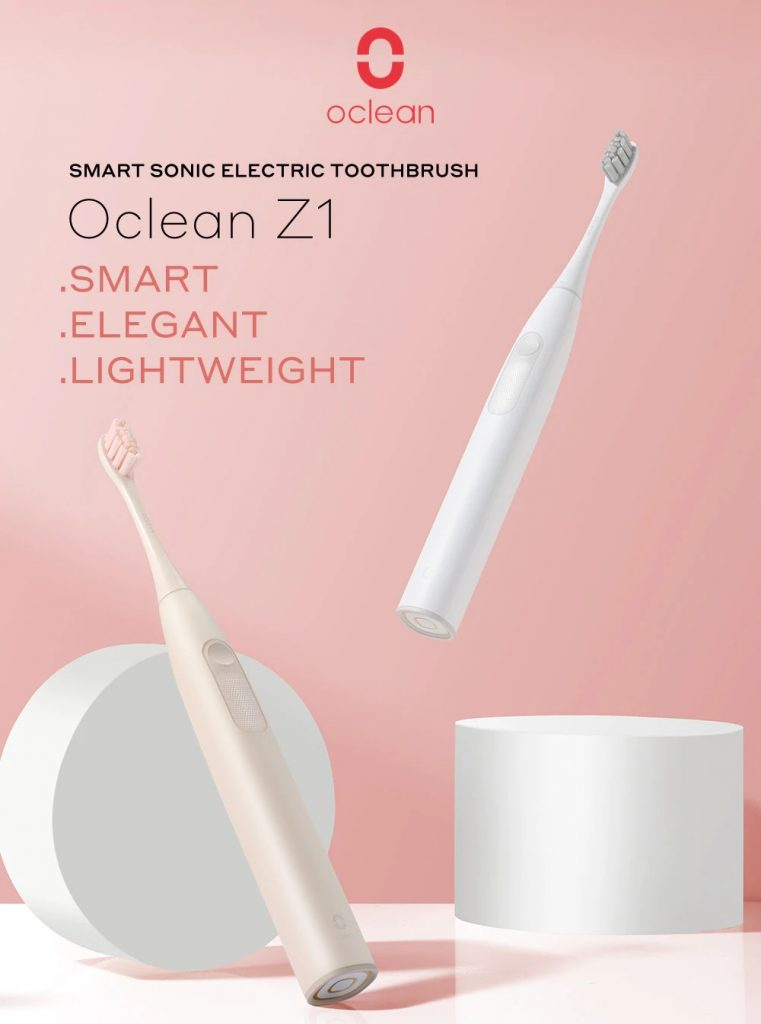 coupon, gearbest, Oclean Z1 Smart LED Light Acoustic Wave Electric Toothbrush Brushless Motor 32 Intensity Levels Non-metal Tufting Blind Zones Detection App Control International Version from Xiaomi youpin