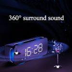 coupon, banggood, Sansui T68 Wireless bluetooth Speaker Dual Driver Alarm Clock LED Display Stereo Soundbar Subwoofer with Mic