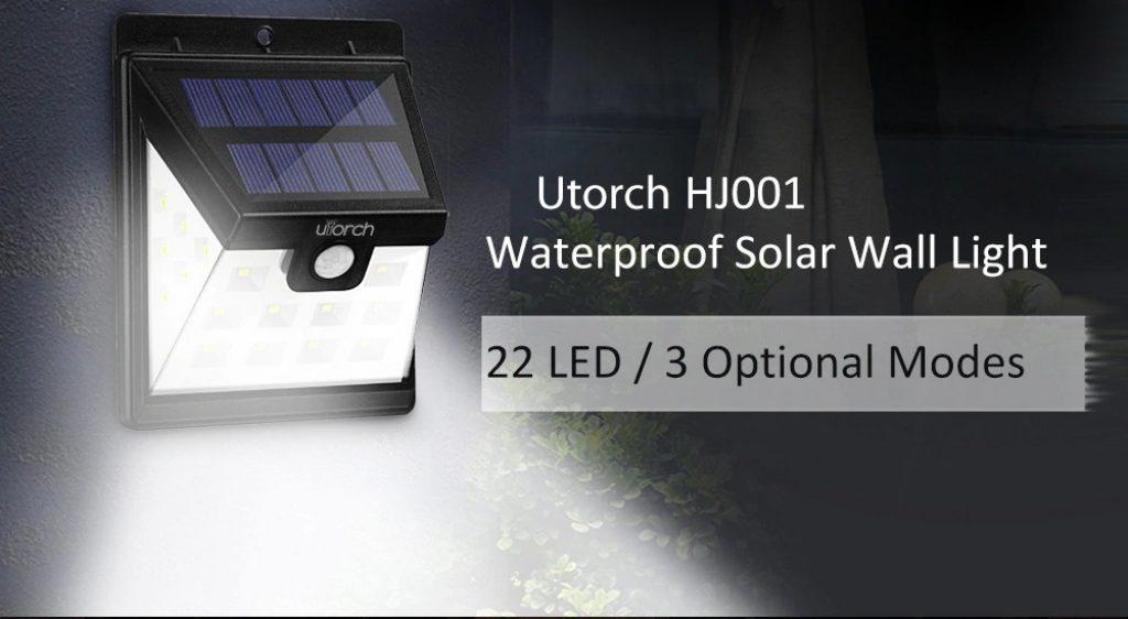 kupon, gearbest, Utorch HJ001 Solar Duvar Işığı
