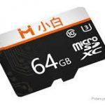 kupong, banggood, Xiaobai 64GB C10 høyhastighets TF-minnekort for smarttelefon nettbrett bil DVR drone fra Xiaomi youpin