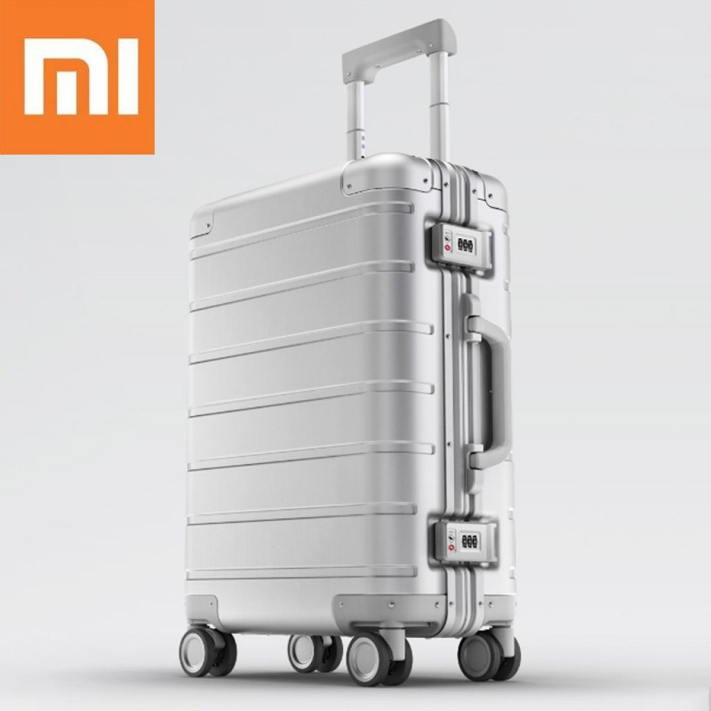 coupon, banggood, Xiaomi 20inch Travel Suitcase Men Women Business Trunk 31L Aluminum Alloy TSA Lock Spinner Wheel Carry On Luggage Case