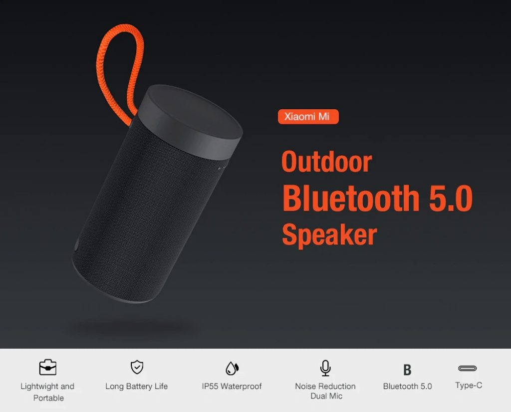 coupon, banggood, Xiaomi Wireless bluetooth 5.0 Speaker Portable Outdoors Dual-mic Noise Reduction Type-C Charging Loud Speaker
