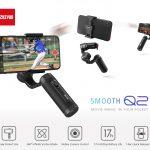 kupón, převodovka, ZHIYUN hladký Q2 Gimbal Hand Hold Stabilizer 3-osa Protřásavý držák na mobil