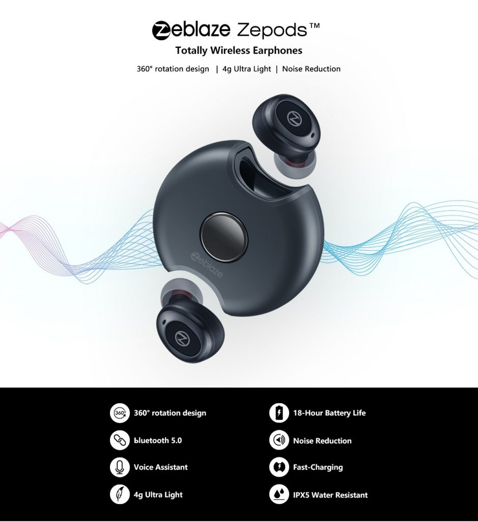 kupon, banggood, Zeblaze Zepods ™ Totally Wireless Earphone