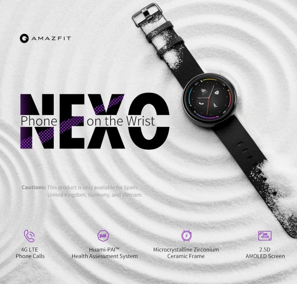 banggood, קופון, gearbest, טלפון שעונים חכמים של אמזפיט נקסו 4G