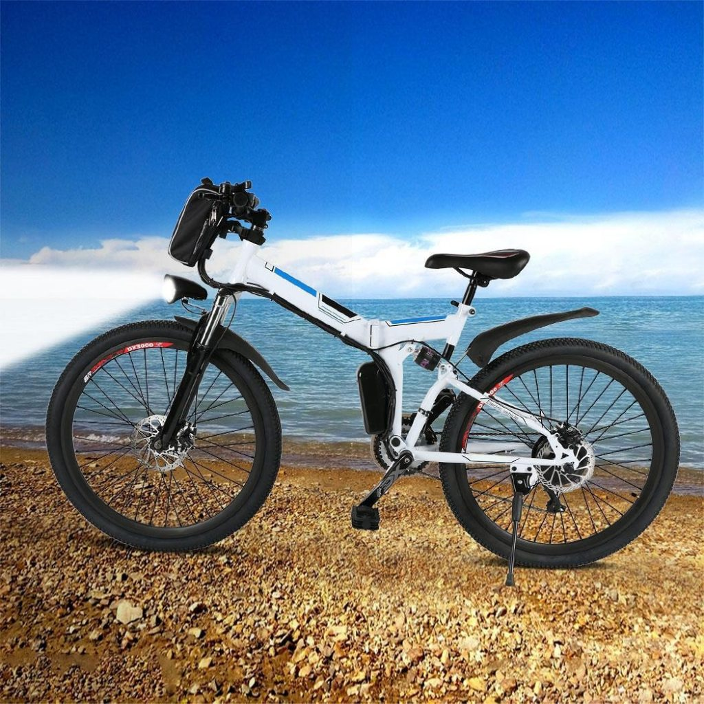 कूपन, गियरबेस्ट, एंकर 26inch 36V फोल्डेबल इलेक्ट्रिक पावर माउंटेन साइकिल