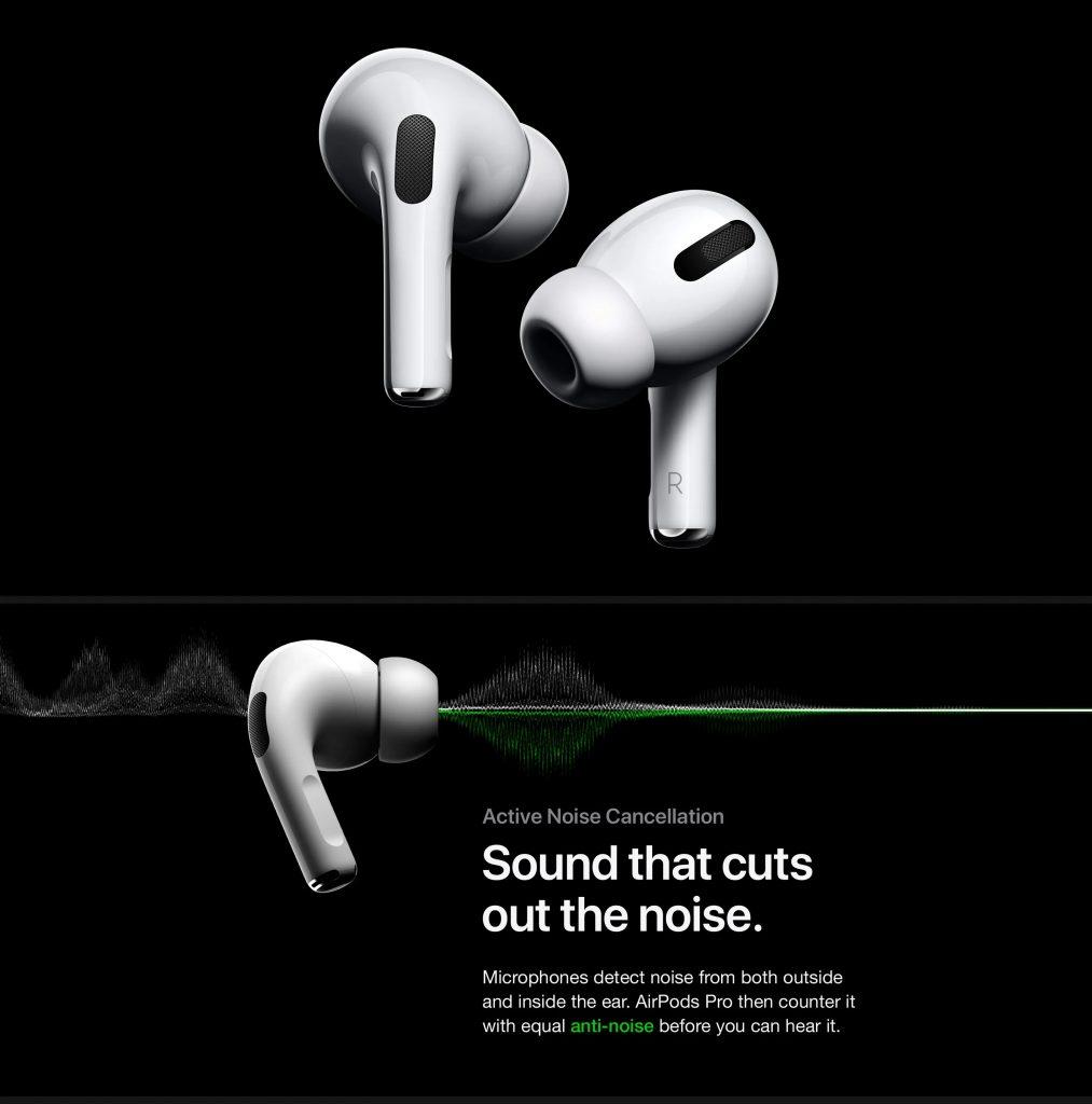 Phiếu giảm giá, gearbest, Apple AirPods Pro ANC Giảm tiếng ồn chủ động Tai nghe Bluetooth IPX4 Tai nghe trong tai chống nước có đế sạc