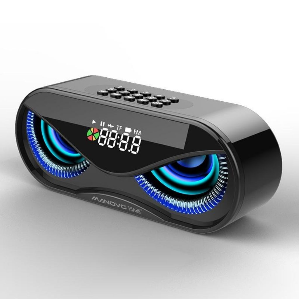 coupon, banggood,Bakeey 10W Creative Wireless bluetooth 5.0 Speaker Dual Units LED Display Alarm Clock FM Radio TF Card Stereo Speaker with Mic