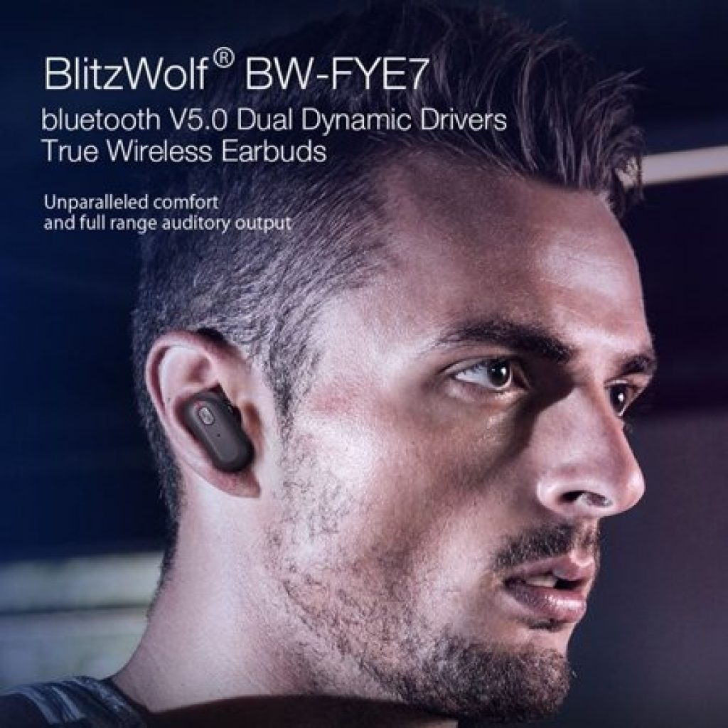 kupon, banggood, Blitzwolf® BW-FYE7 TWS bluetooth 5.0 Earphone Heavy Bass Stereo Bilateral Calls Headphone with Charging Box