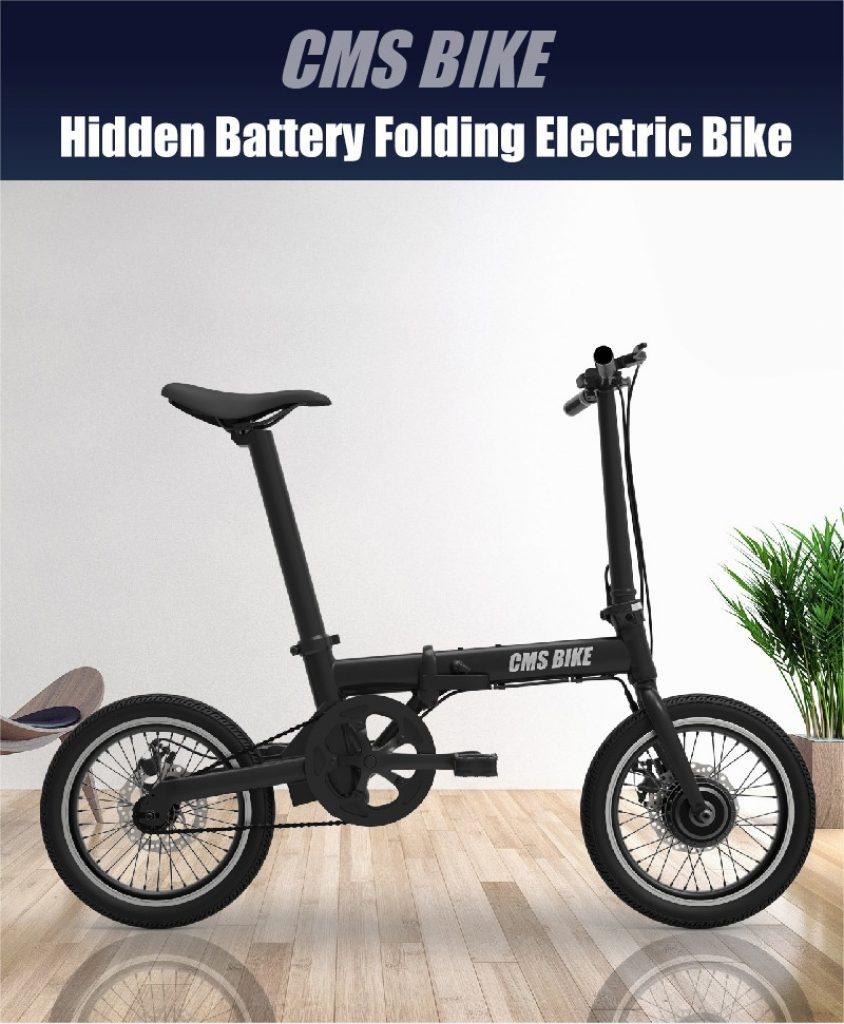 קופון, Banggood, CMSBIKE XIAOKE 36V 250W מנוע ללא מברשות 158.4WH 16 אינץ 'אופניים חשמליים מתקפלים שחורים