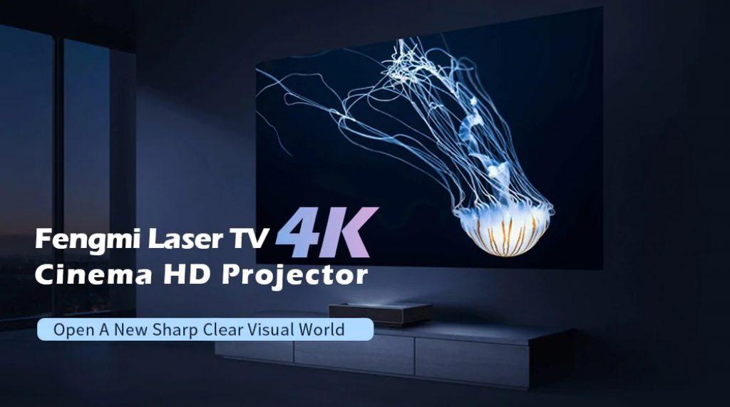 kupong, banggood, Fengmi 4K Cinema Laser Projector 2500 Lumens 150 inch ALPD 4K 3D BT 4.0 MIUI TV Xiaomi Projector