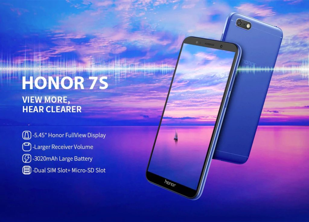 Phiếu giảm giá, gearbest, Điện thoại thông minh HUAWEI Honor 7S 4G