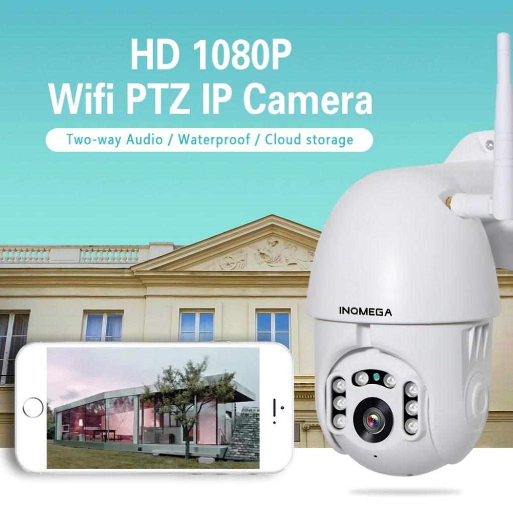 kupon, banggood, INQMEGA PTZ381 HD 1080P PTZ 360 ° Panoramik Suya Dayanıklı IP Kamera IR Gece Sürümü İki yönlü Ses