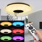 coupon, banggood, Modern 60W RGB LED Ceiling Light bluetooth Music Speaker Lamp Remote APP Control