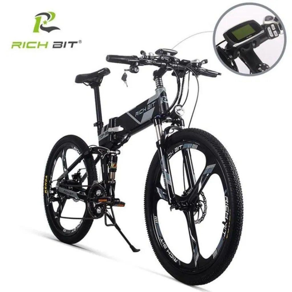 कूपन, धमाकेदार, RICH BIT TOP-860 12.8AH 36V 250W 26inch फोल्डिंग मोपेड इलेक्ट्रिक बाइक