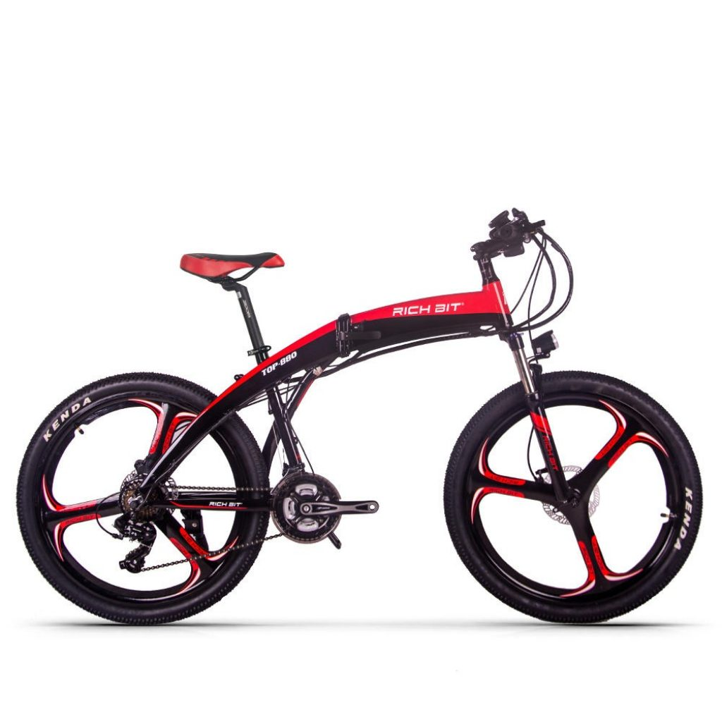 coupon, banggood, RICH BIT TOP-880 250W 36V 9.6Ah 26inch Folding Moped Electric Mountain Bike