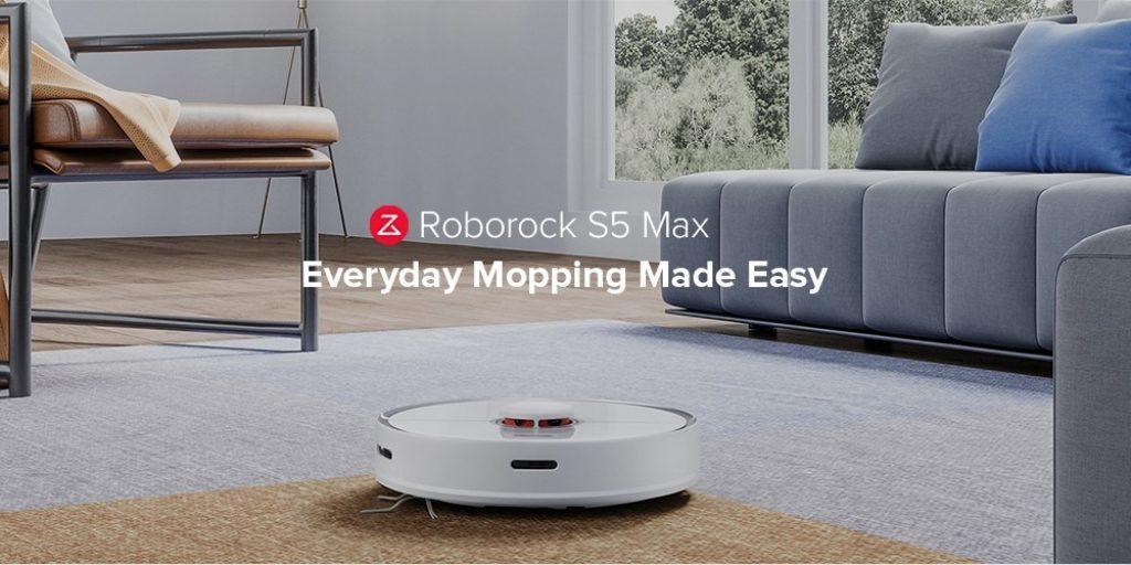 Gearbest, banggood, geekbuying, kupon, xiaomi, gearbest, Roborock S5 Max Laser Navigasi Robot Vacuum Cleaner