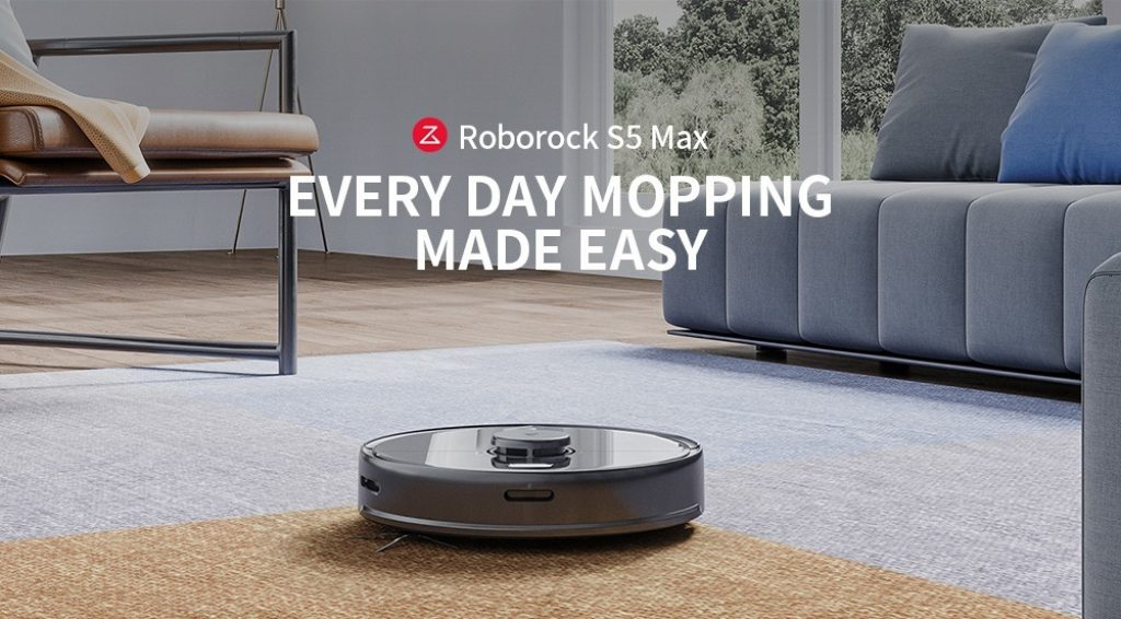 coupon, banggood, Roborock S5 Max Laser Navigation Robot Wet and Dry Vacuum Cleaner from Xiaomi youpin