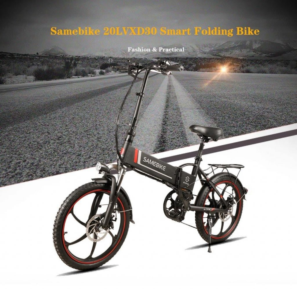 كوبون ، بانجقود ، SAMEBIKE 20LVXD30 10.4AH 48V 350W Electric Moped Bike